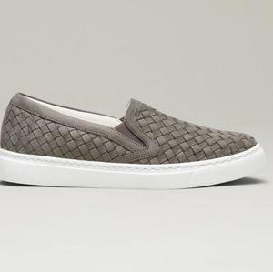 M. Gemi the Cherchio woven leather slip on sneaker